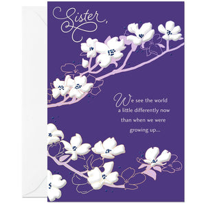 Sister - You're So Special to Me Floral Birthday Card