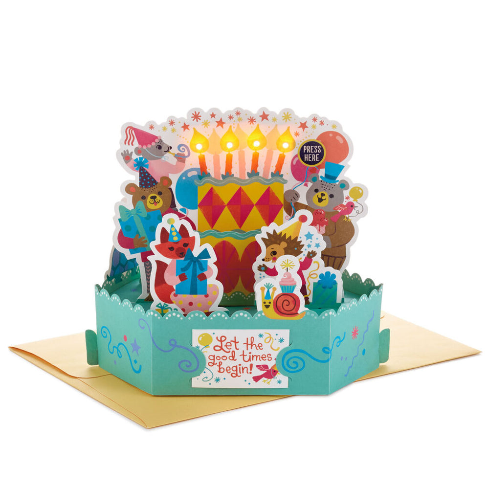 Celebrate Cake 3D Pop-Up Musical Birthday Card With Light