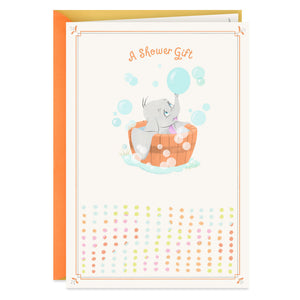 Load image into Gallery viewer, Disney Dumbo in a Bubble Bath Baby Shower Card