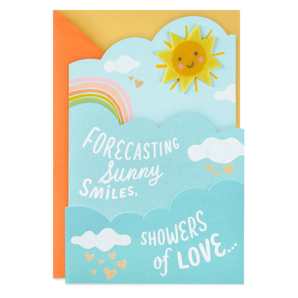 A Sunny Forecast Baby Shower Card