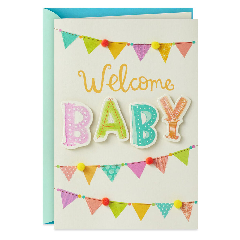 Being Together and Being Happy New Baby Card
