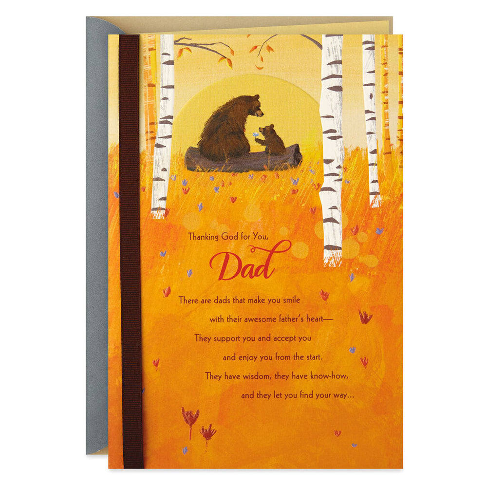 Load image into Gallery viewer, Dad - Papa Bear and Bear Cub Birthday Card