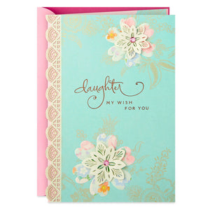 Load image into Gallery viewer, Daughter - Lace Flowers Birthday Card