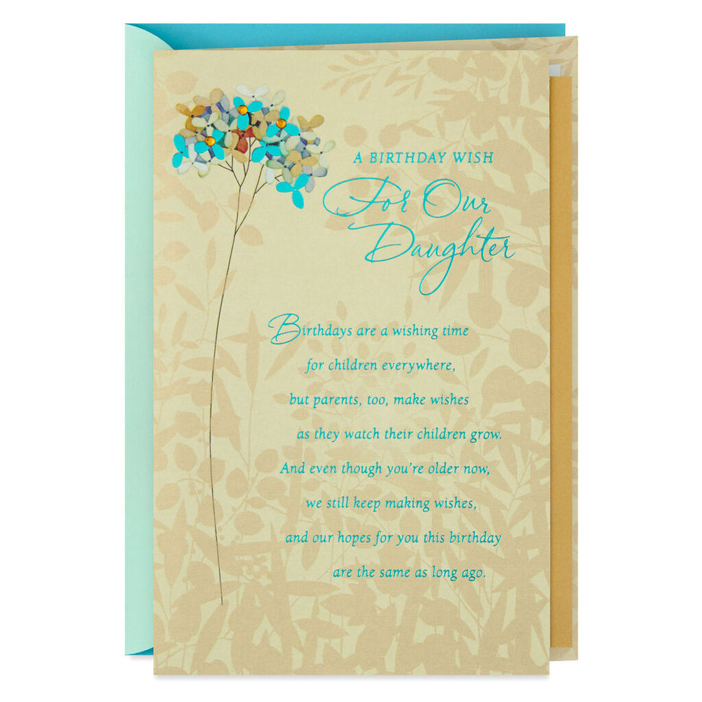 Daughter - Wishes for Our Daughter Birthday Card