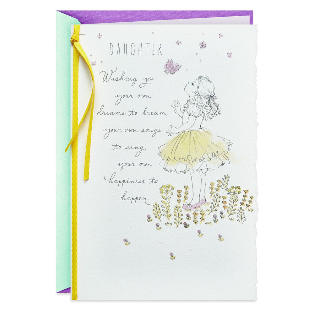 Daughter - Wishing You Dreams and Happiness Birthday Card