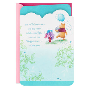 Winnie the Pooh Happiest Days Friend Birthday Card