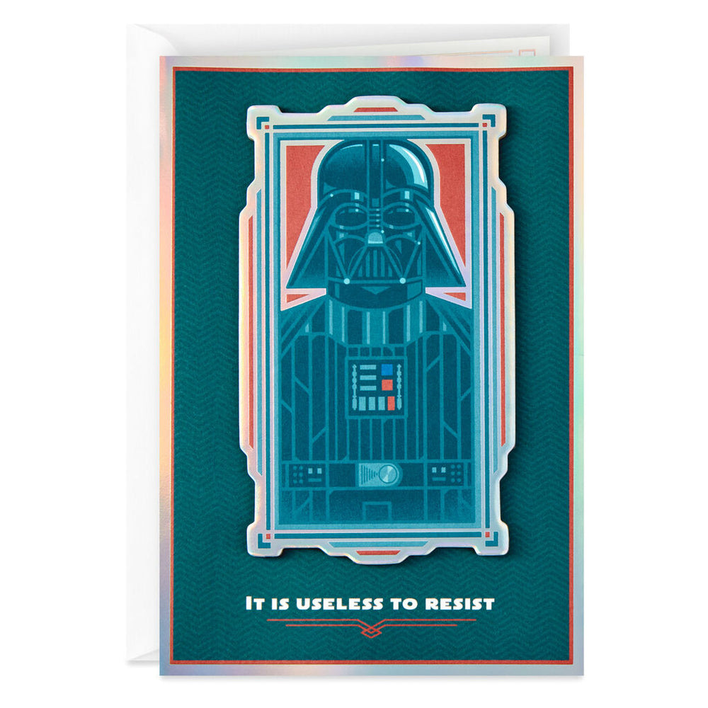 Star Wars Darth Vader Useless to Resist Birthday Card