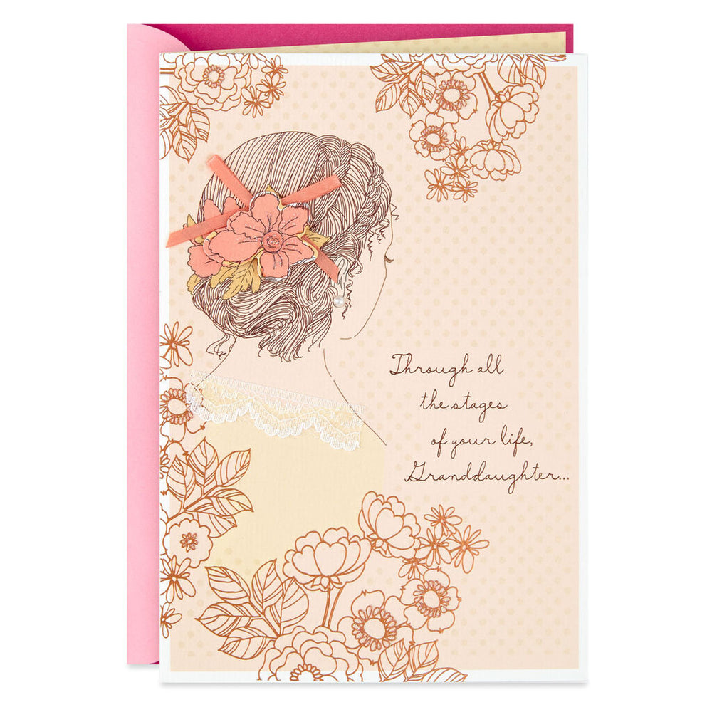 Granddaughter - You're In Our Hearts Every Day Birthday Card
