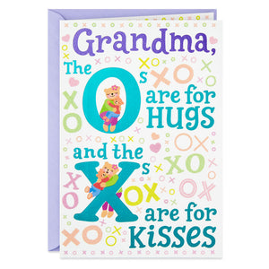 Grandma - Hugs and Kisses Birthday Card