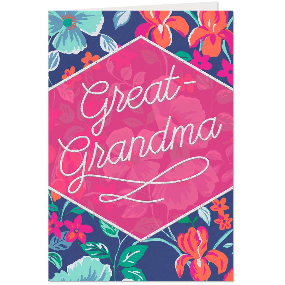 Great Grandma - Family Loves You Very Much Birthday Card
