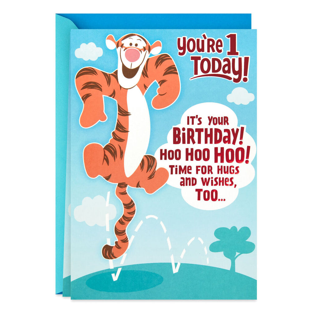 Load image into Gallery viewer, Disney Winnie the Pooh Tigger Pop Up 1st Birthday Card