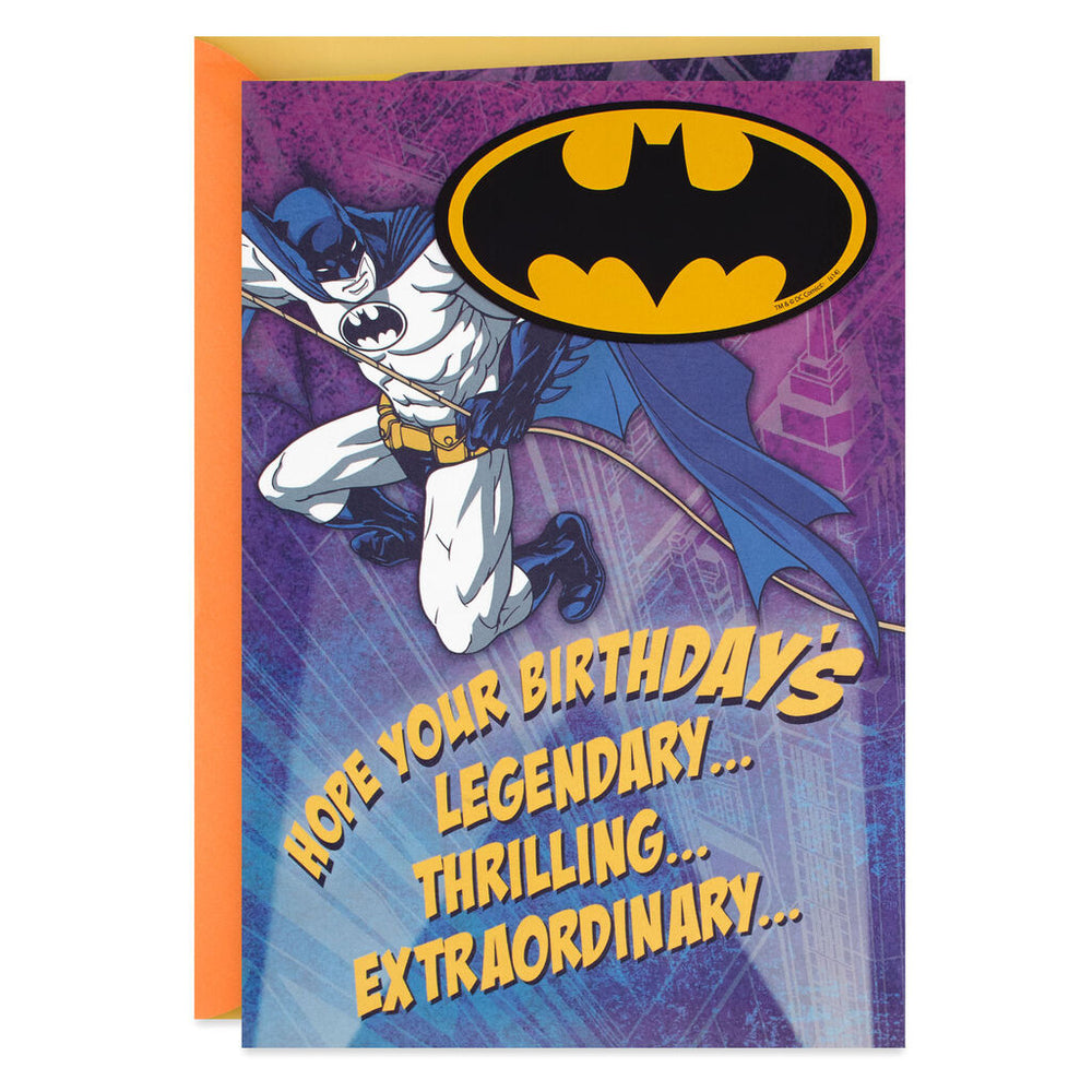 DC Comics™ Batman™ Legendary Birthday Card With Magnet