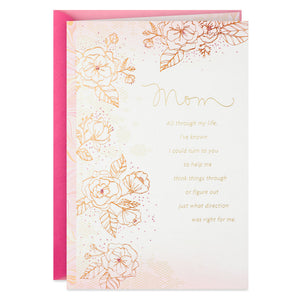 Load image into Gallery viewer, Mom - Sketched Flowers With Pink Marble Border Birthday Card