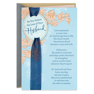 Bless the Memories Religious Sympathy Card for Loss of Husband