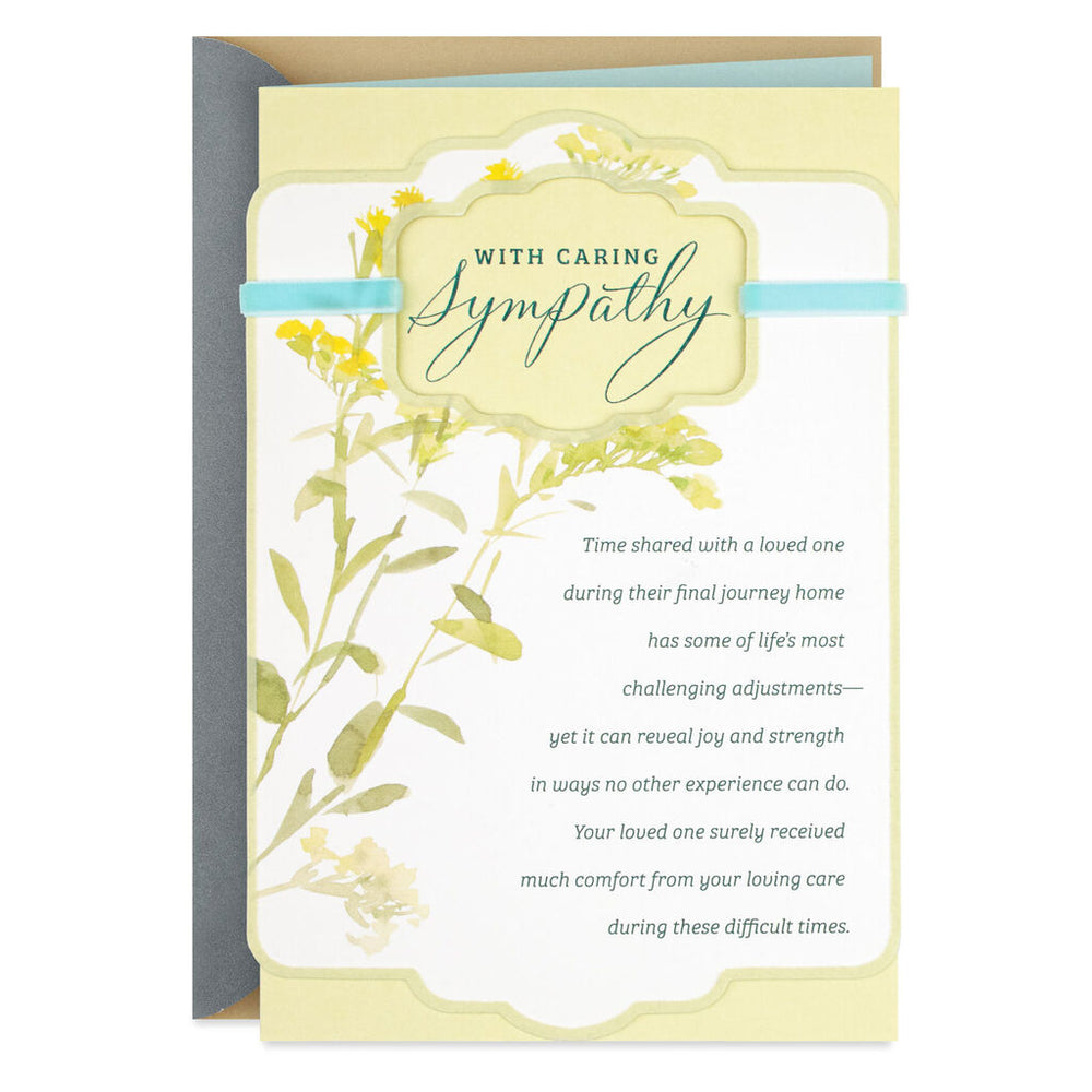 Your Loving Care Religious Sympathy Card