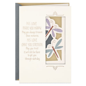 Dragonflies Sympathy Card for Loss of Husband