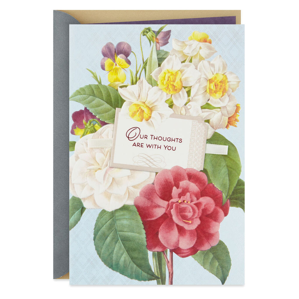 Our Thoughts Are With You Sympathy Card From Us