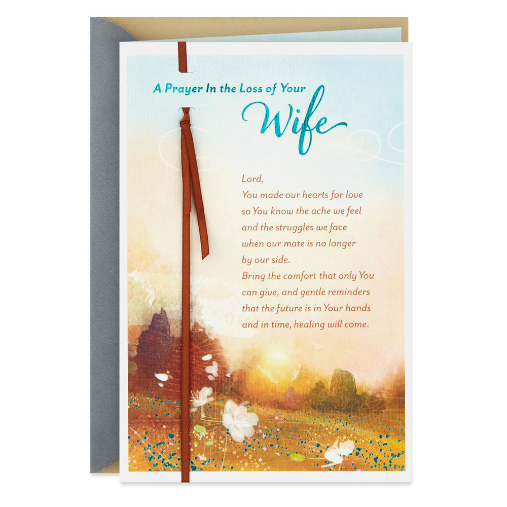 A Prayer for You Religious Sympathy Card for Loss of Wife