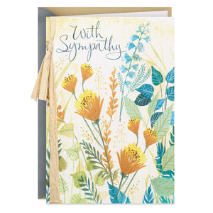 Field of Wildflowers Sympathy Card