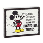 Disney Mickey Mouse Incredible Things Wood Quote Sign, 6.25x5