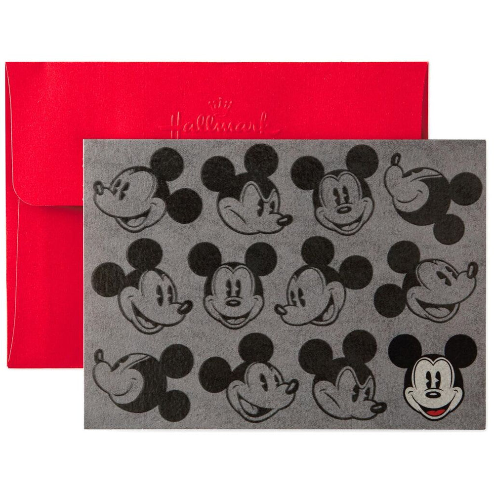 Mickey Mouse Many Faces Blank Note Cards, Pack of 10