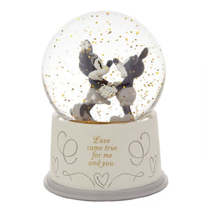 Load image into Gallery viewer, Disney Mickey and Minnie Love Came True Snow Globe