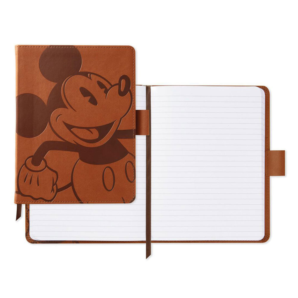 Disney Mickey Mouse Etched Faux Leather Notebook
