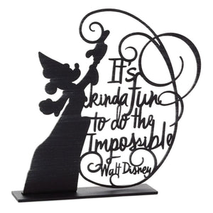Disney Sorcerer Mickey Do the Impossible Metal Quote Figurine, 7.75""