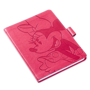 Minnie Mouse Pink Faux Leather Notebook