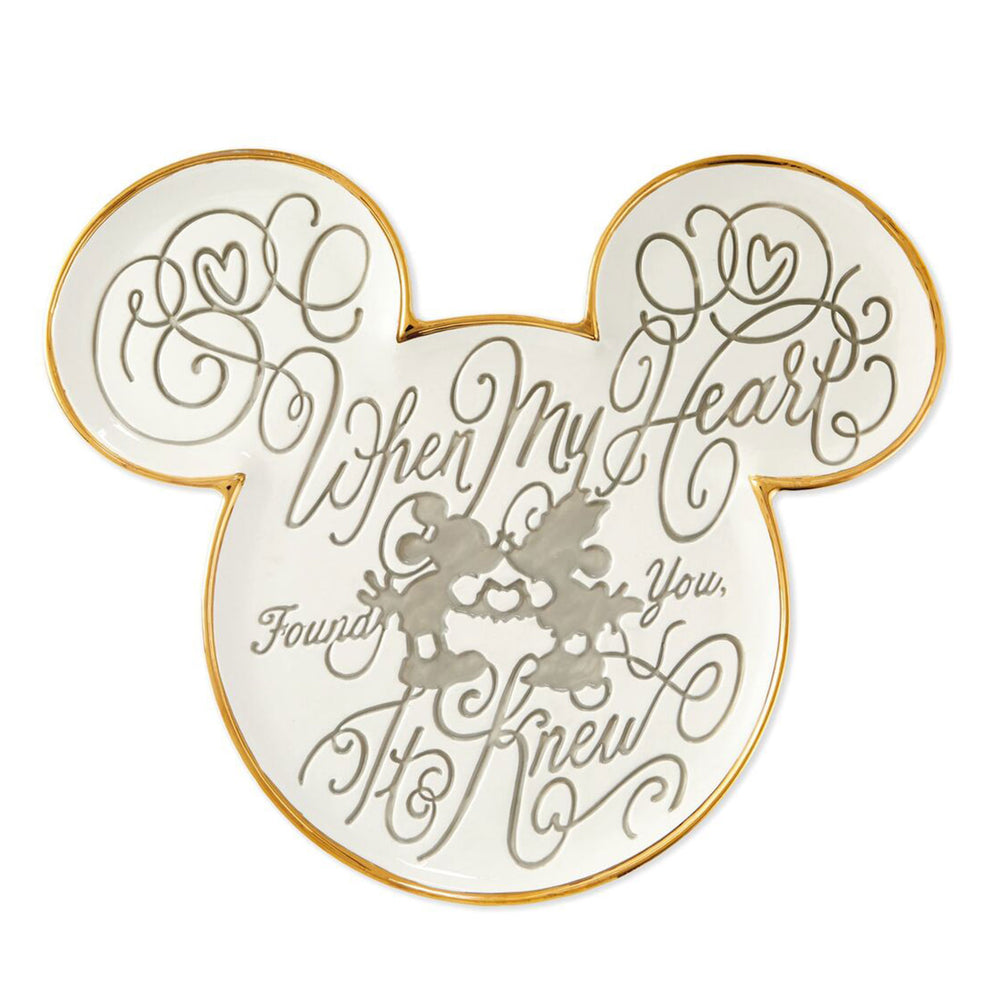Disney Mickey and Minnie My Heart Found You Plate