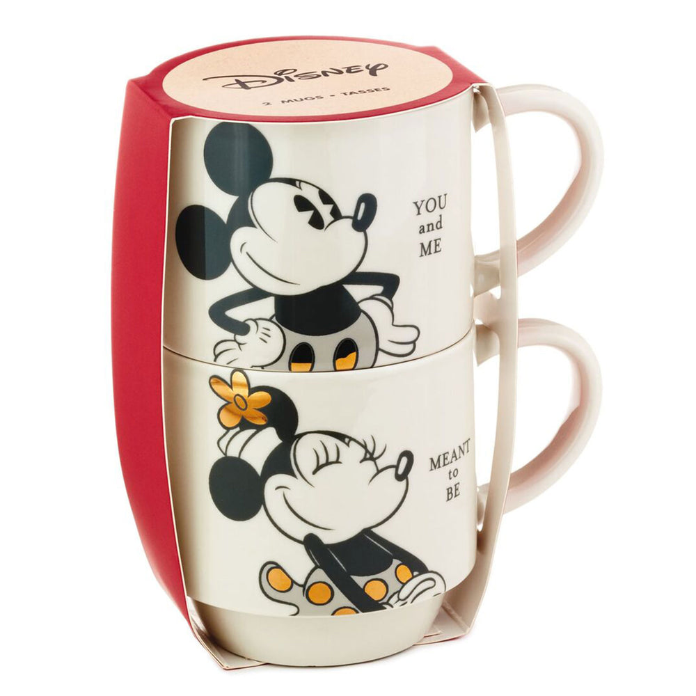 Disney Mickey and Minnie You and Me Stacking Mugs, Set of 2
