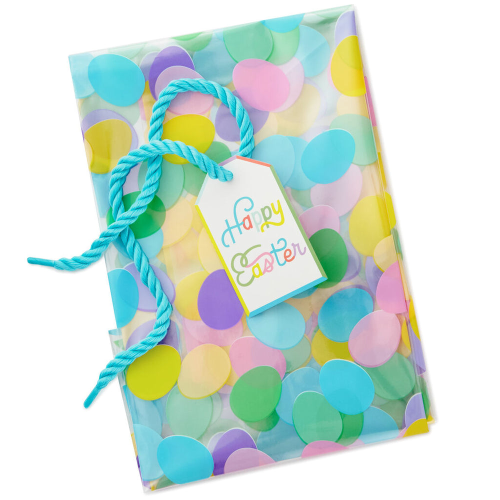"28"" Cellophane Easter Basket Gift Bag With Tag and Tie"