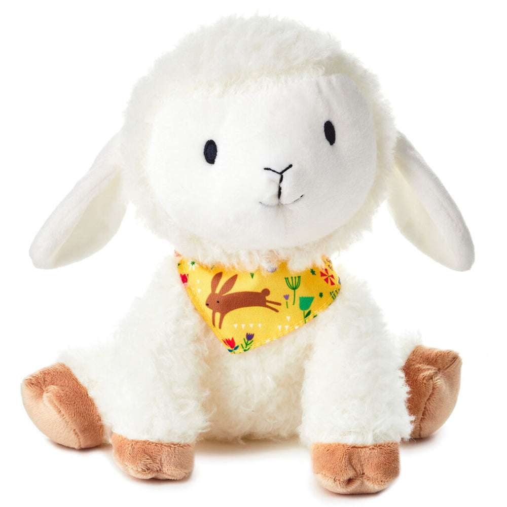 Huggable Lamb With Scarf Stuffed Animal, 8""