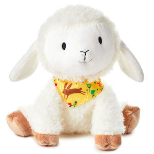 Load image into Gallery viewer, Huggable Lamb With Scarf Stuffed Animal, 8""