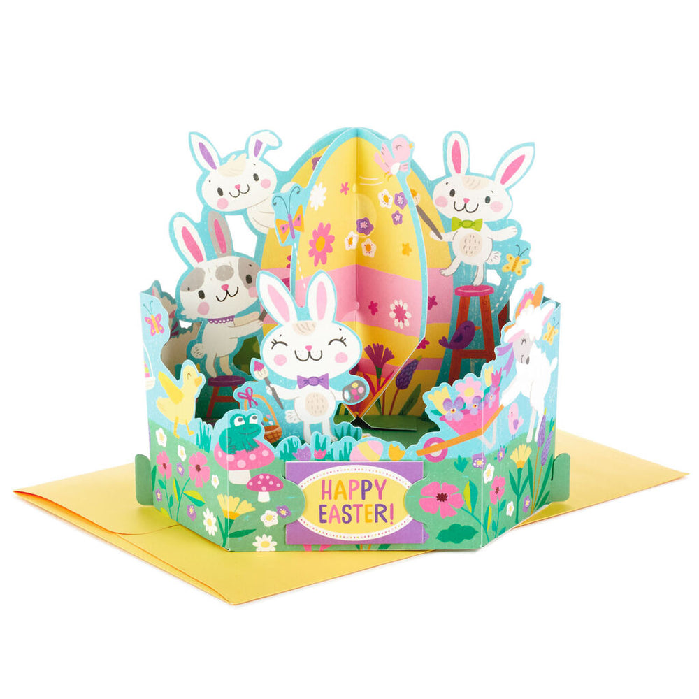 Springtime Animals Pop Up Easter Card