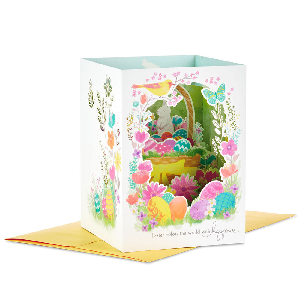 Color the World With Happiness Pop Up Shadow Box Easter Card
