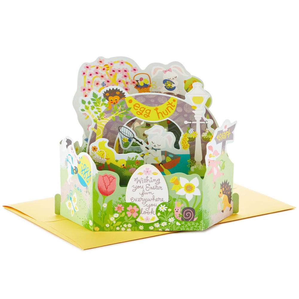 Easter Egg Hunt Pop Up Easter Card