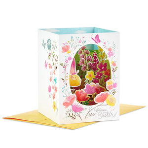Welcome Easter Pop Up Shadow Box Easter Card