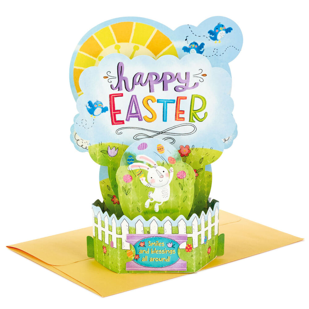 Smiles and Blessings Pop Up Easter Card