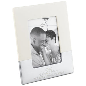 25 Years Together Ceramic Picture Frame, 5x7
