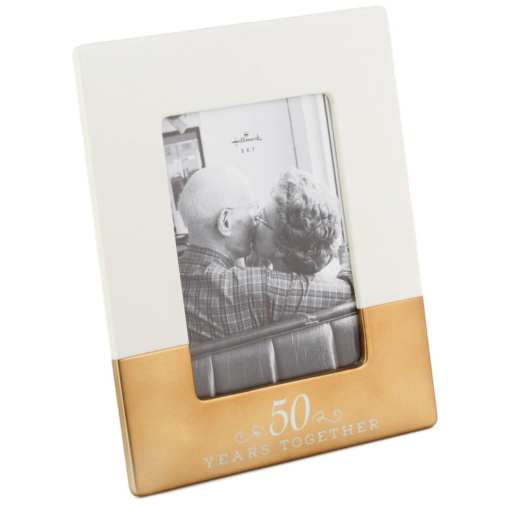 50 Years Together Ceramic Picture Frame, 5x7