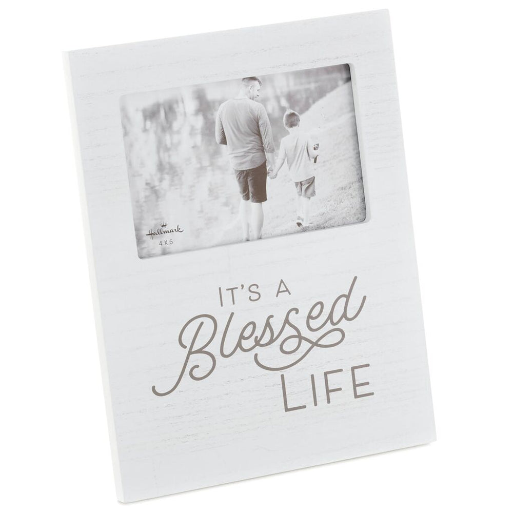 Blessed Life Wood Picture Frame, 4x6