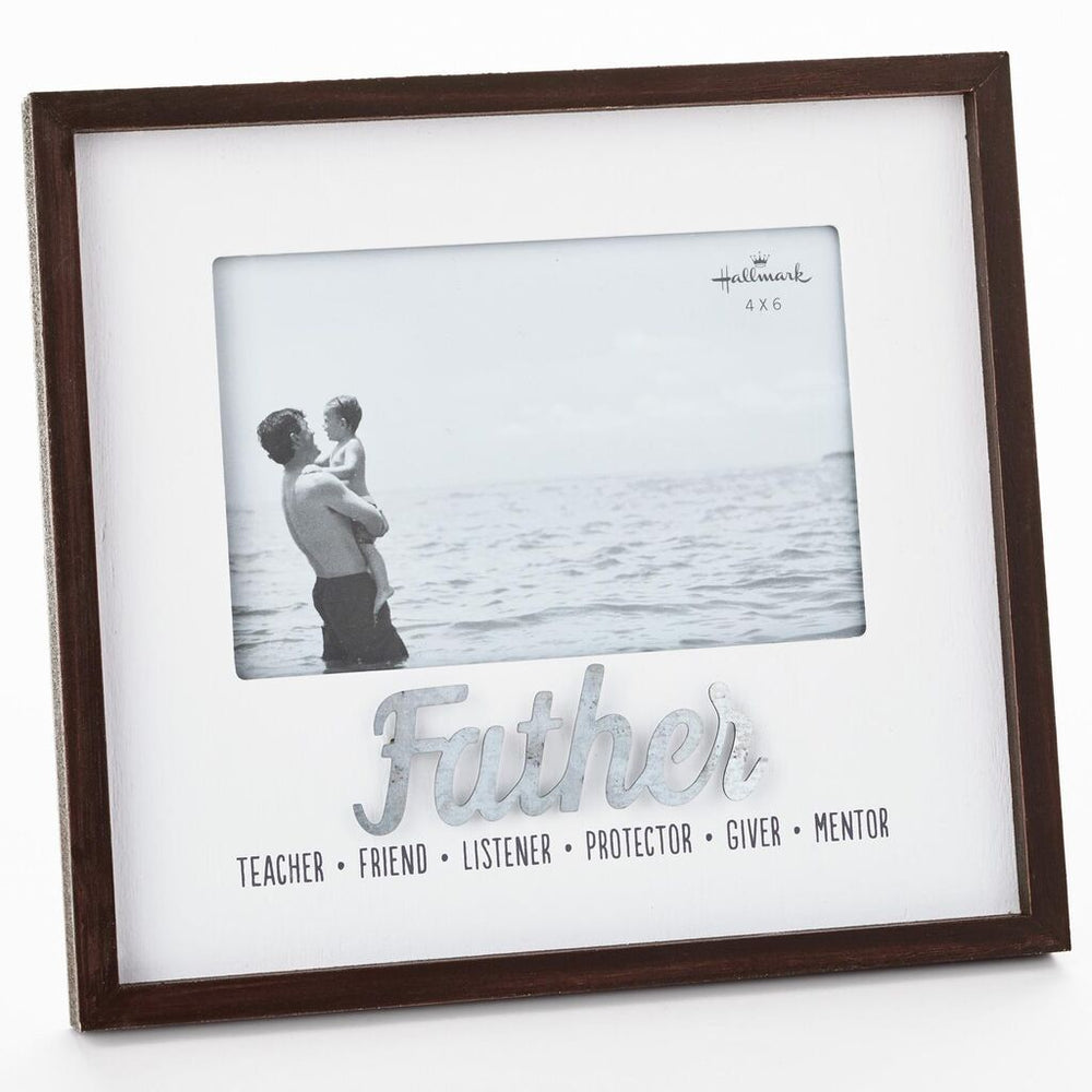 Qualities of a Father Wood Picture Frame, 4x6