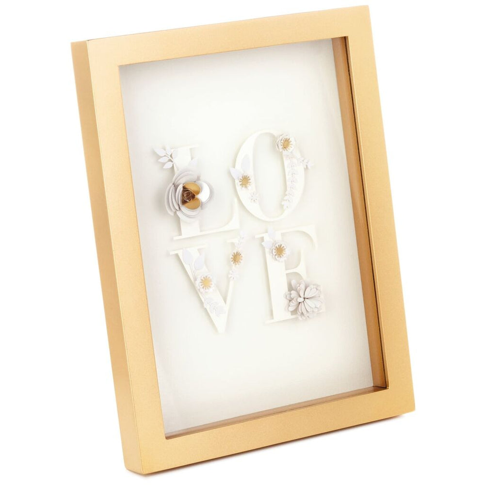 Love Paper Art Framed Wall Art, 7.5x10