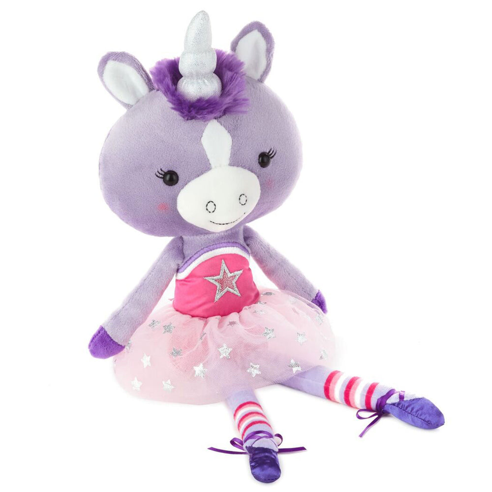 Anna Pointe the Unicorn Ballerina Stuffed Animal, 15""
