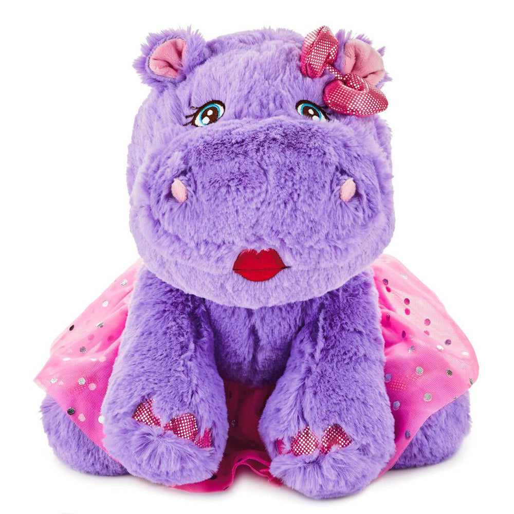 Darla the Hippo Stuffed Animal, 10.75""