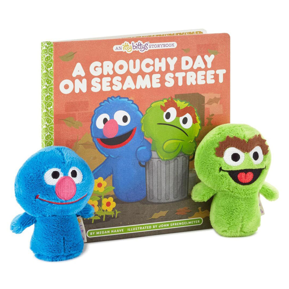 itty bittys® A Grouchy Day On Sesame Street® Stuffed Animals and Storybook Set