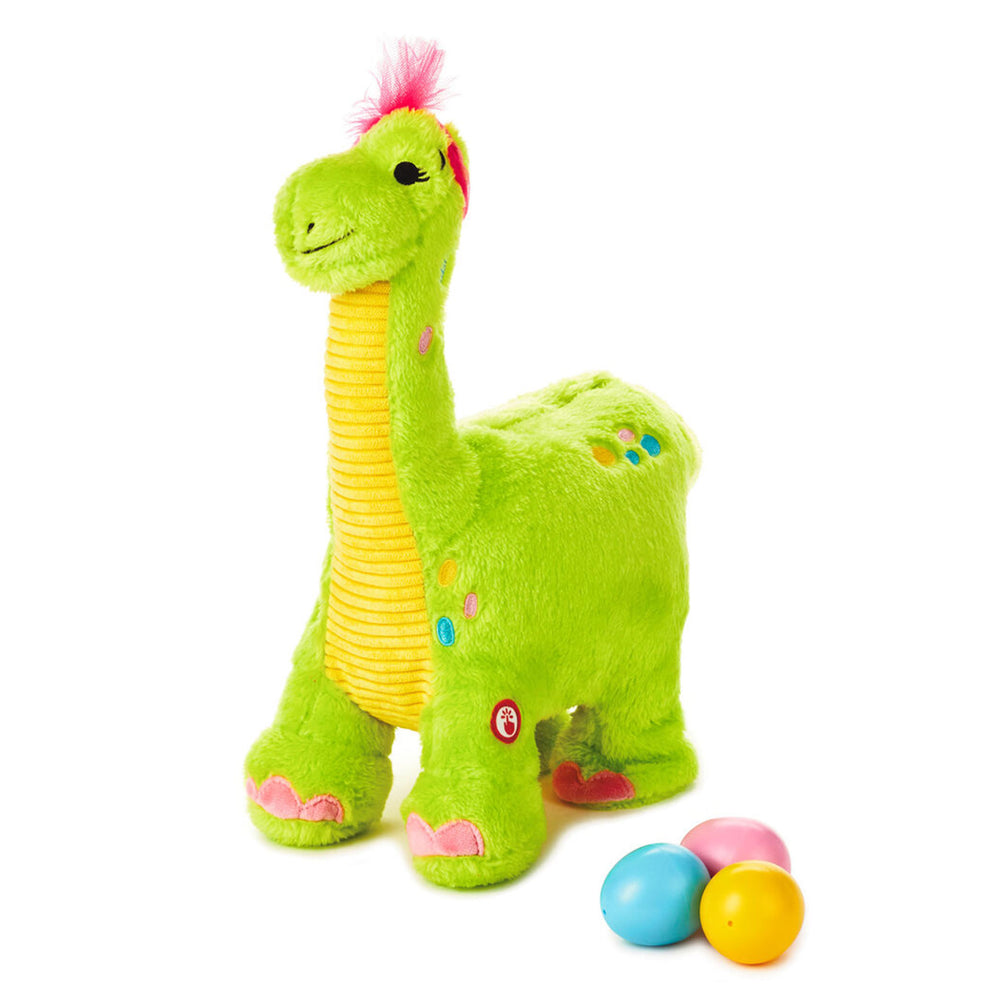 Egg Layin Dino Musical Stuffed Animal With Motion