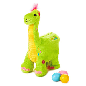 Load image into Gallery viewer, Egg Layin Dino Musical Stuffed Animal With Motion