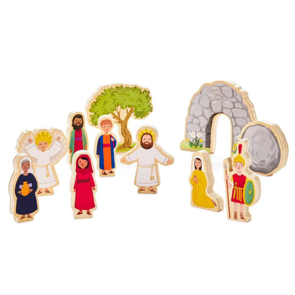 Jesus Lives Wood Play Set